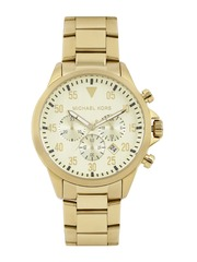 Michael Kors Men Muted Gold-Toned Chronograph Dial Watch MK8491I
