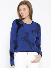 Vero Moda Blue Patterned Sweater