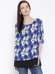 ALTOMODA by Pantaloons Blue Polyester Printed Tunic