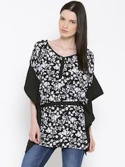 ALTOMODA by Pantaloons Black Polyester Printed Tunic
