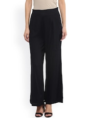 Fusion Beats Women Black Palazzo Trousers
