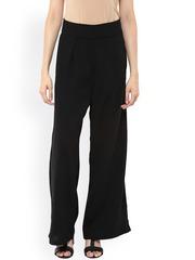Fusion Beats Women Black Palazzo Trousers