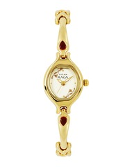 Titan Raga Women Muted Gold-Toned Dial Watch NH2387YM06