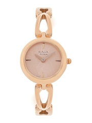 Titan Raga Women Rose Gold-Toned Dial Watch 2553WM02