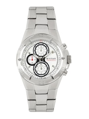 Titan Octane Men Chronograph White Dial Watch NF9308SM01MA