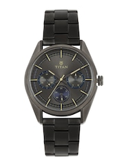 Titan Men Gunmetal-Toned Multi-Function Watch 90084QM01J