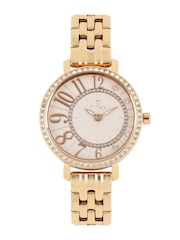 Titan Women Rose Gold-Toned Swarovski Analogue Watch 95041WM01J