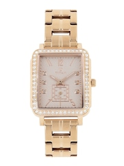 Titan Women Rose Gold-Toned Swarovski Analogue Watch 95042WM01J