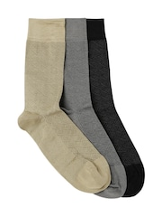 INVICTUS Men Set of 3 Above Ankle-Length Socks