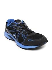 Spinn Men Blue & Black Hertz Sports Shoes