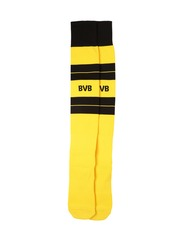 PUMA Men Yellow & Black BVB Hooped Football Socks