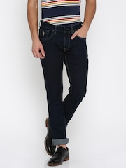 U.S. Polo Assn. Men Navy Woody Slim Straight Fit Clean Look Jeans