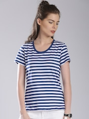 Levis Blue & White Striped Top