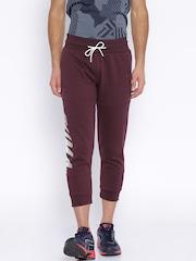 PUMA Maroon Printed Track Pants
