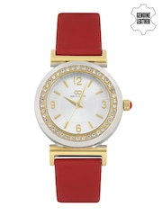GIO COLLECTION Women Silver-Toned Dial Watch G2014-03