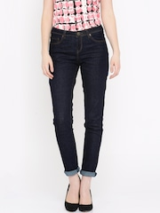 all about you Women Blue Skinny Fit Mid-Rise Clean Look Jeans
