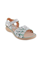 Beanz Girls White Embellished Flats