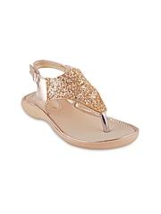 Beanz Girls Gold-Toned Sequinned Flats