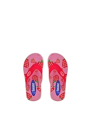 Beanz Girls Red & Pink Printed Flip-Flops