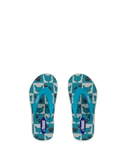 Beanz Girls Blue Printed Flip-Flops