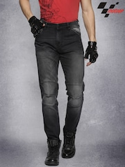 RDSTR Black MotoGP Washed Slim Fit Stretch Jeans