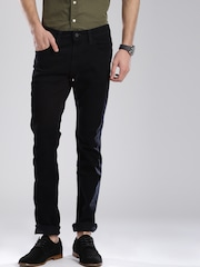 Levis Men Black Skinny Fit Low-Rise Clean Look Jeans