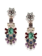 DressBerry Multicoloured Embellished Drop Earrings