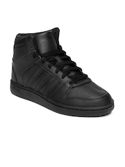 Adidas NEO Women Black Hoopster Mid-Top Sneakers