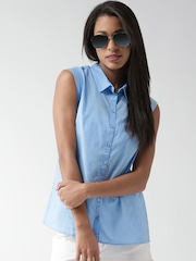SELA Women Blue Shirt