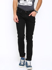 SPYKAR Men Black Skinny Fit Low-Rise Jeans