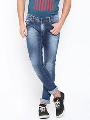 SPYKAR Men Blue Super-Skinny Fit Low-Rise Jeans
