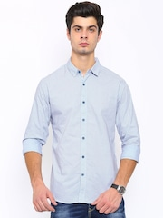 SPYKAR Men Blue Regular Fit Printed Casual Shirt