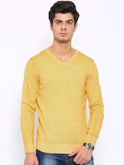 SPYKAR Men Yellow Solid Sweater