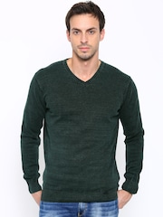 SPYKAR Men Green Sweater