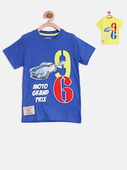 CHALK by Pantaloons Pack of 2 Boys Printed Round Neck T-Shirts