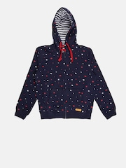 U.S. Polo Assn. Kids Boys Navy Star-Shaped Print Hooded Sweatshirt