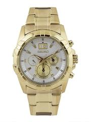 SEIKO Lord Men Silver-Toned Chronograph Dial Watch SPC162P1