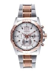 SEIKO Men White Chronograph Dial Watch SPC188P1