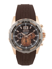 SEIKO Lord Men Coffee Brown Chronograph Dial Watch SPC194P1