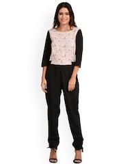 The Gud Look Pink & Black Printed Jumpsuit
