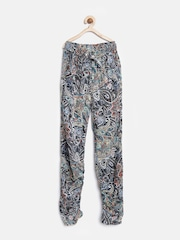 YK Girls Multicoloured Printed Trousers