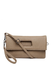 Mast & Harbour Brown Textured Oversized Clutch