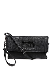 Mast & Harbour Black Textured Clutch