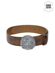 Royal Enfield Men Brown Genuine Leather Belt