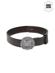 Royal Enfield Men Black Genuine Leather Belt