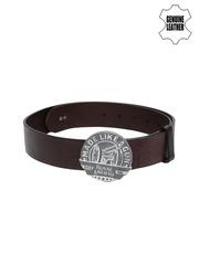 Royal Enfield Men Coffee Brown Genuine Leather Belt