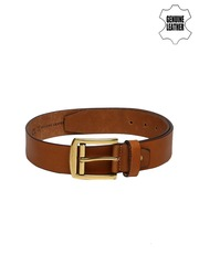 Roadster Men Tan Brown Genuine Leather Belt