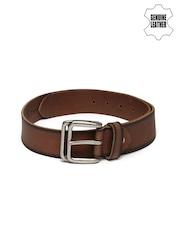 Roadster Men Brown & Black Genuine Leather Belt