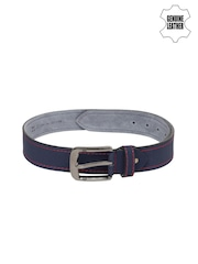 Roadster Men Blue Genuine Leather Belt