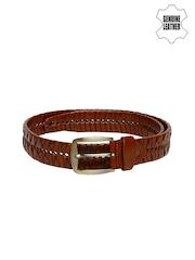 Roadster Men Tan Brown Genuine Leather Belt